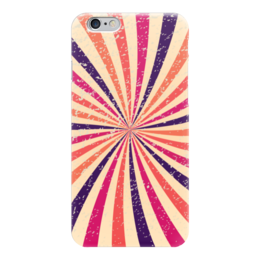 """Чехол для iPhone 6 """"Винтажная радуга"""" - радуга, ретро, винтаж"""
