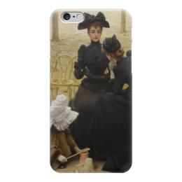 """Чехол для iPhone 6 """"Разговоры в Люксембургском саду"""" - картина, коркос"""