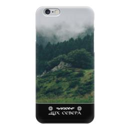 """Чехол для iPhone 6 глянцевый """"Дух Севера"""" - природа, лес, север, путь воина"""