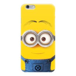 """Чехол для iPhone 6 """"Миньон"""" - жёлтый, миньон, гадкий я, minion"""