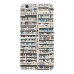 "Чехол для iPhone 6 ""Shelves With Pills"" - склад, здоровье, таблетки, полки, аптека"