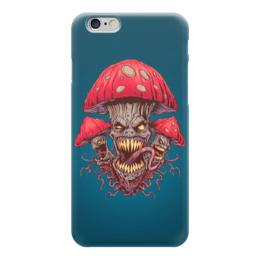 """Чехол для iPhone 6 """"Зловещие мухоморы"""" - прикол, гриб, грибы, зло, мухомор"""