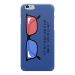 "Чехол для iPhone 6 ""Doctor Who 3D"" - очки, 3д, доктор кто"