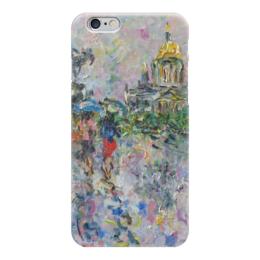 "Чехол для iPhone 6 ""Питер"" - питер, улица, дождь, зонт, собор"