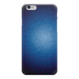 """Чехол для iPhone 6 """"Синие огурчики"""" - арт, узор, синий, восточный, огурчики"""