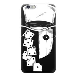 """Чехол для iPhone 6 """"Игрок"""" - игра, кости, маска"""