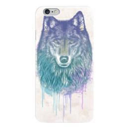 """Чехол для iPhone 6 глянцевый """"Wolf (Волк)"""" - искуство, рисунок, животные, природа, волк"""