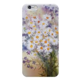 """Чехол для iPhone 6 """"Ромашки колокольчики"""" - цветы, ромашки, колокольчики, букет"""