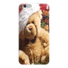 """Чехол для iPhone 6 """"Новогодний Мишка"""" - новый год, мишка, подарок, 2016, плюшевый"""