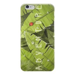 """Чехол для iPhone 6 """"Летнее приключение"""" - лето, насекомое, зелень, божья коровка, приключение"""