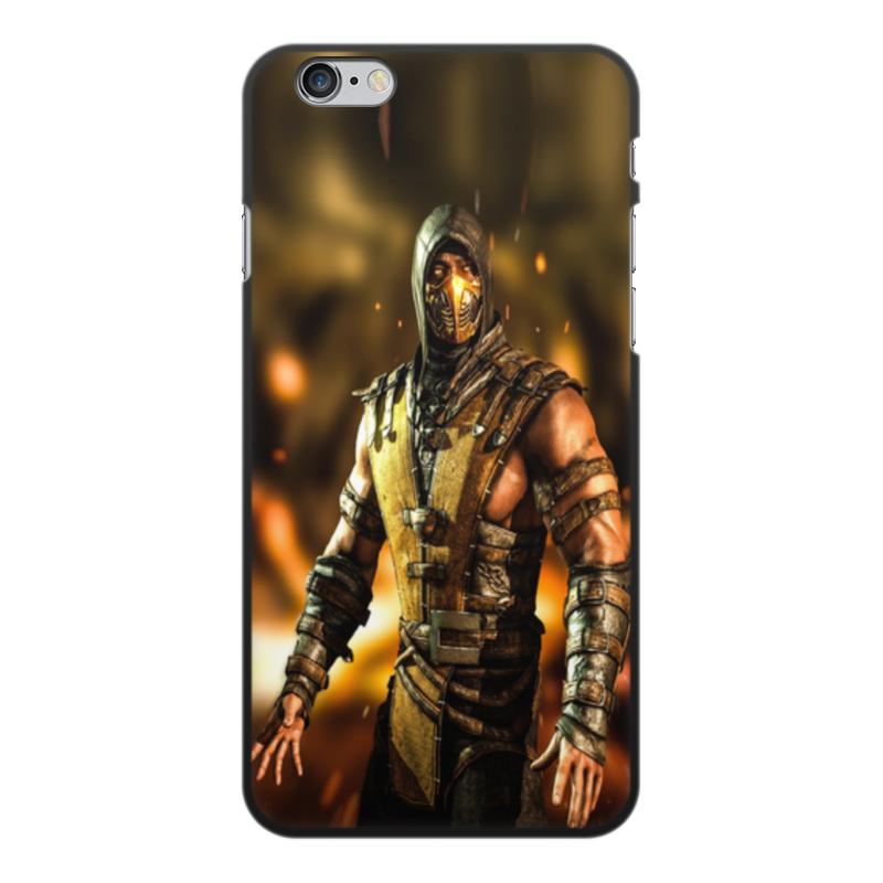 Чехол для iPhone 6 Plus, объёмная печать Printio Mortal kombat (scorpion) printio чехол для iphone 6 plus глянцевый