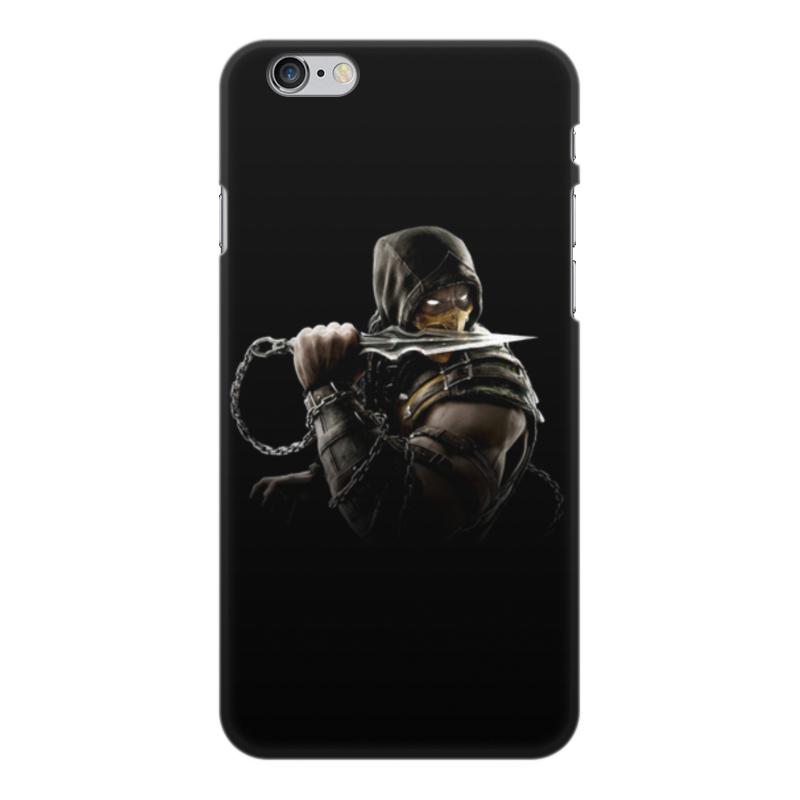 Чехол для iPhone 6 Plus, объёмная печать Printio Mortal kombat (scorpion) чехол для iphone 5 5s объёмная печать printio mortal kombat scorpion