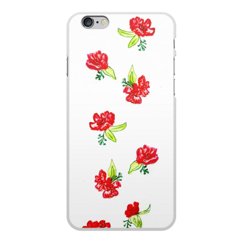 Чехол для iPhone 6 Plus, объёмная печать Printio Чехол красные цветы pantene