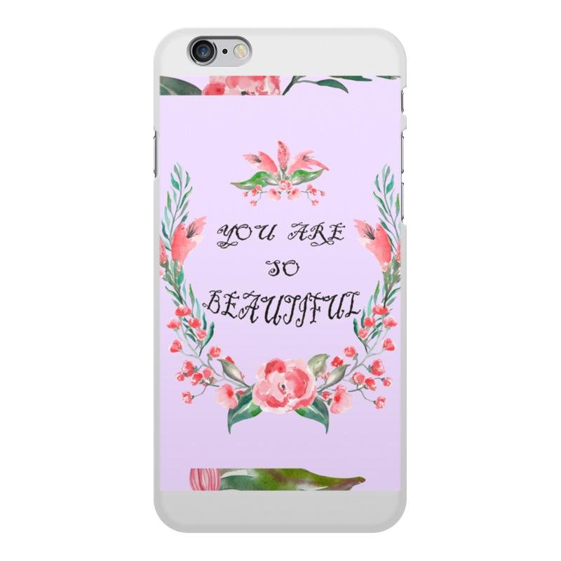 Чехол для iPhone 6 Plus, объёмная печать Printio Цветочный венок заготовка из пенопласта сердце венок 25 24см толщина 2см