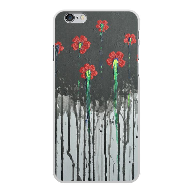 Чехол для iPhone 6 Plus, объёмная печать Printio Красные маки