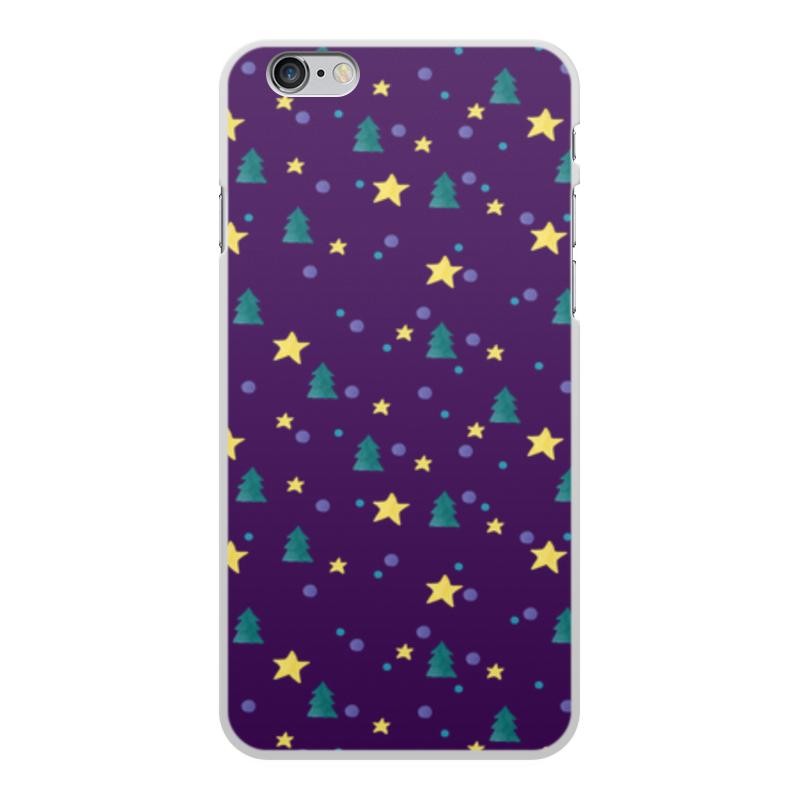 Чехол для iPhone 6 Plus, объёмная печать Printio Елки и звезды