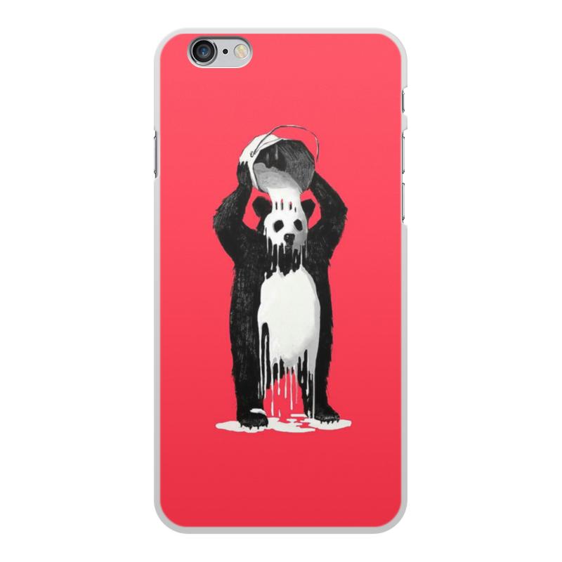 Чехол для iPhone 6 Plus, объёмная печать Printio Панда в краске чехол для iphone 6 plus глянцевый printio япония минимализм