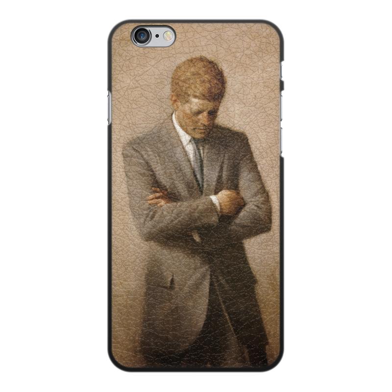 Чехол для iPhone 6 Plus, объёмная печать Printio Портрет президента джона ф. кеннеди.