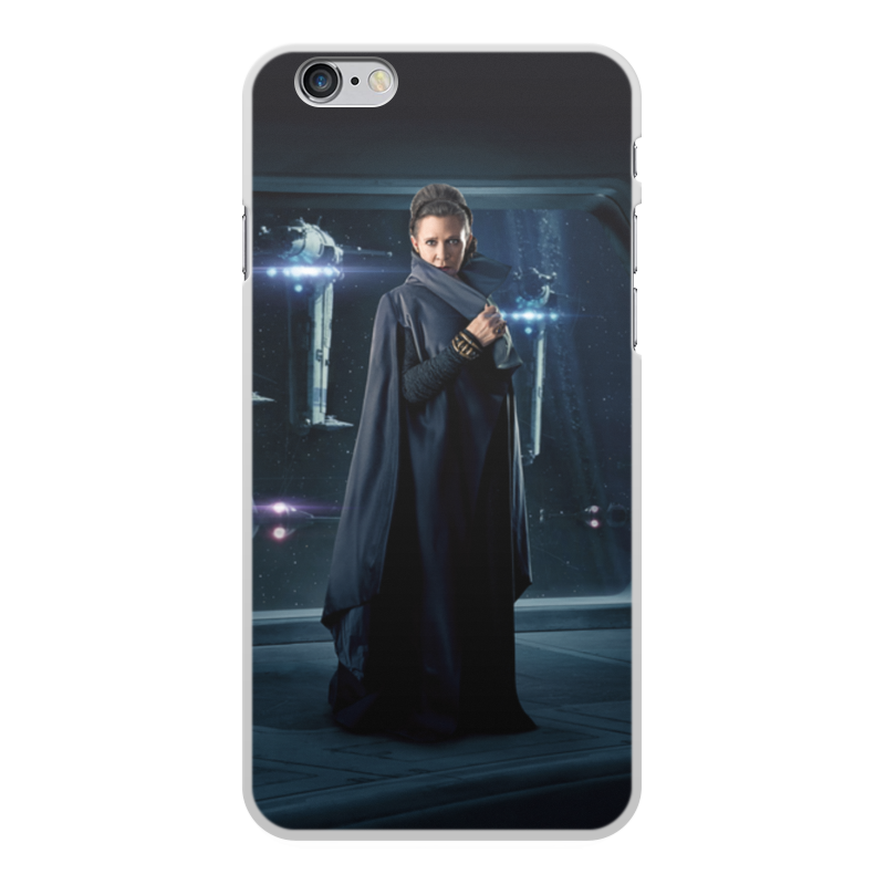 Чехол для iPhone 6 Plus, объёмная печать Printio Звездные войны - лея
