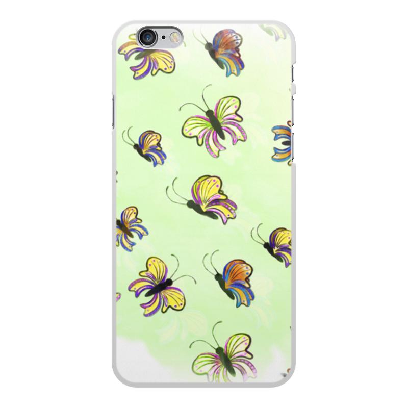Чехол для iPhone 6 Plus, объёмная печать Printio Бабочки чехол для iphone 6 глянцевый printio сальвадор дали бабочки