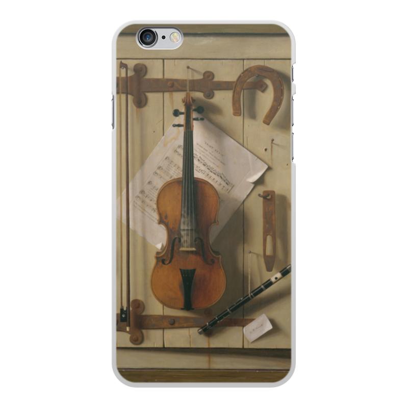 Чехол для iPhone 6 Plus, объёмная печать Printio Натюрморт со скрипкой (уильям харнетт)