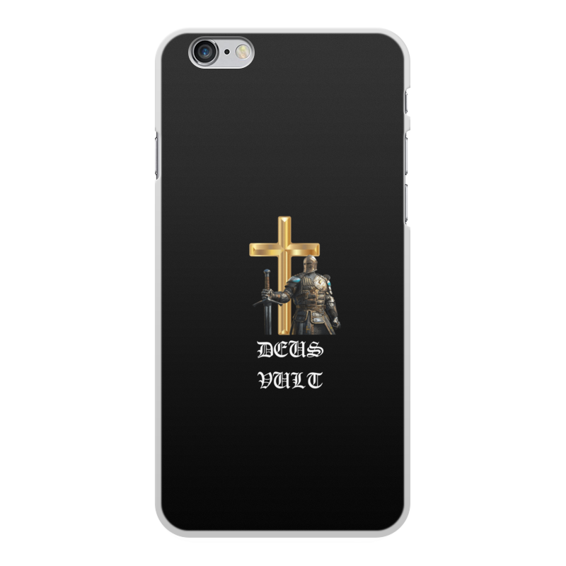 Чехол для iPhone 6 Plus, объёмная печать Printio Deus vult. крестоносцы
