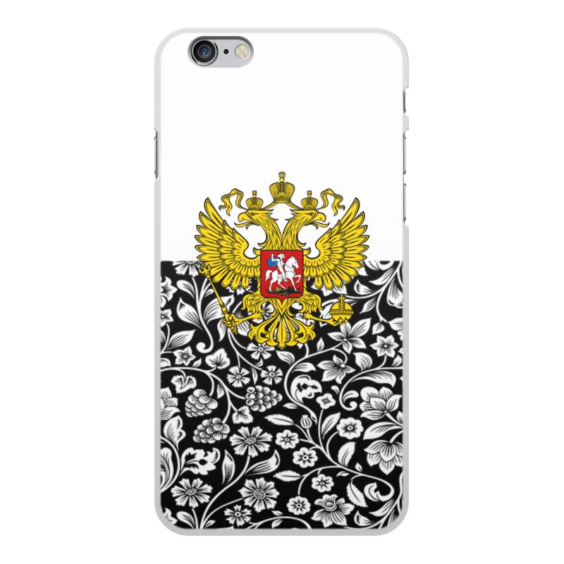 Чехол для iPhone 6 Plus, объёмная печать Printio Цветы и герб цена