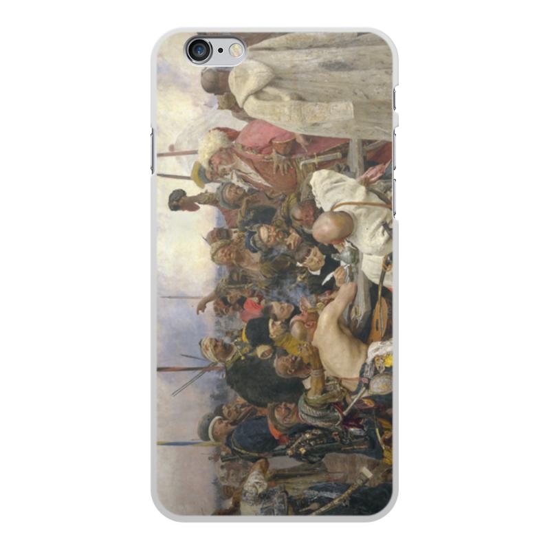 лучшая цена Чехол для iPhone 6 Plus, объёмная печать Printio Запорожцы (картина репина)