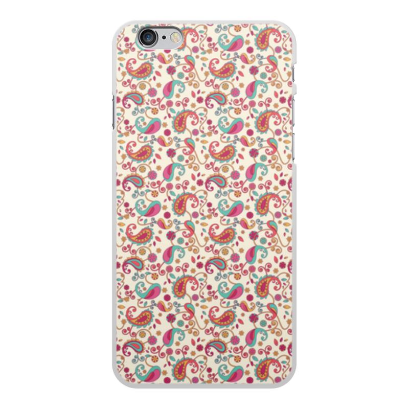 Чехол для iPhone 6 Plus, объёмная печать Printio Пейсли (яркий) printio чехол для iphone 6 plus объёмная печать