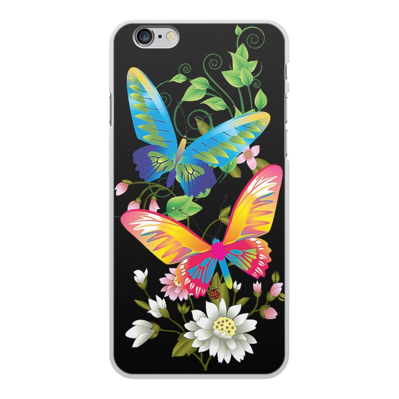 Чехол для iPhone 6 Plus, объёмная печать Printio Бабочки фэнтези чехол для iphone 6 глянцевый printio сальвадор дали бабочки