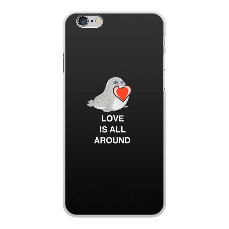 Чехол для iPhone 6 Plus, объёмная печать Printio Love. тюлень. любовь. love mei water dirt shockproof protective metal case for iphone 6