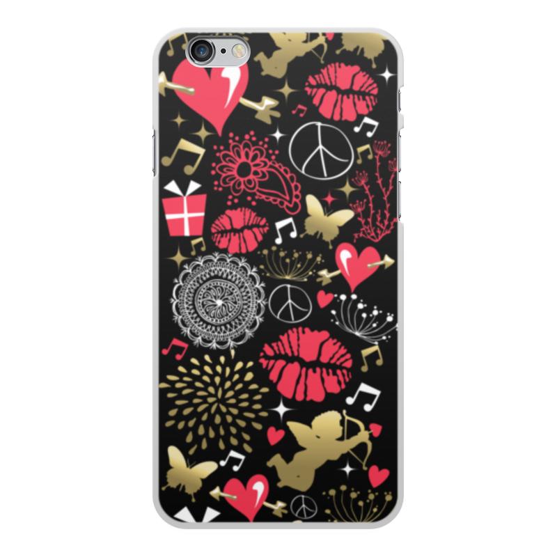 Чехол для iPhone 6 Plus, объёмная печать Printio Валентинка цена и фото