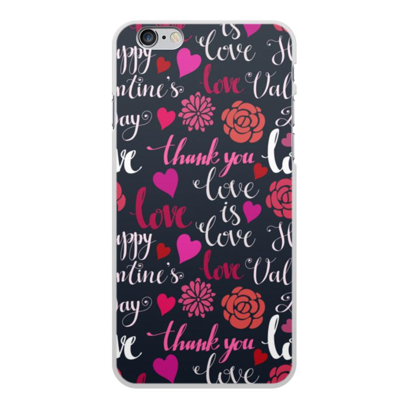 Чехол для iPhone 6 Plus, объёмная печать Printio День св. валентина чехол для iphone 5 printio чехол с мыслями о любви
