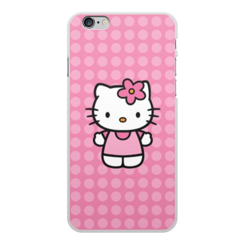 Чехол для iPhone 6 Plus, объёмная печать Printio Kitty в горошек леггинсы printio kitty в горошек