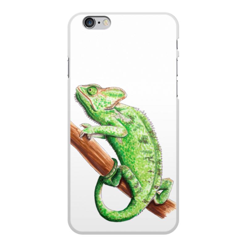 лучшая цена Чехол для iPhone 6 Plus, объёмная печать Printio Зеленый хамелеон на ветке