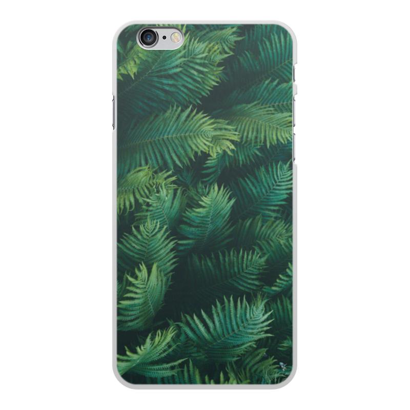 Чехол для iPhone 6 Plus, объёмная печать Printio Листья папоротника цена