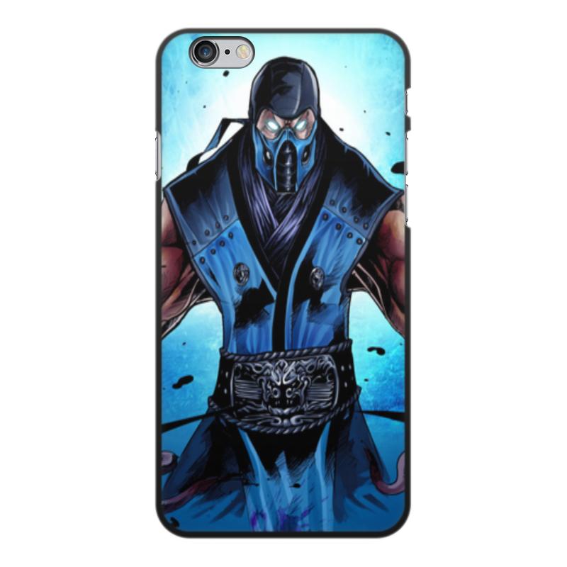 Чехол для iPhone 6 Plus, объёмная печать Printio Mortal kombat x (sub-zero)