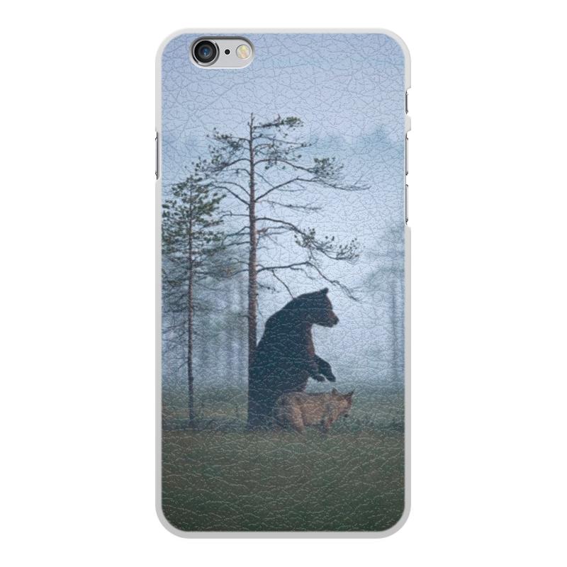 Чехол для iPhone 6 Plus, объёмная печать Printio Мишка и волк чехол для iphone 8 объёмная печать printio мишка и волк