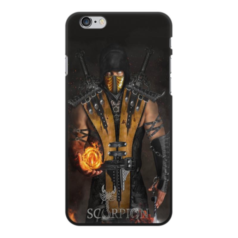 Чехол для iPhone 6 Plus, объёмная печать Printio Mortal kombat (scorpion) аксессуар чехол ipapai для iphone 6 plus ассорти морской