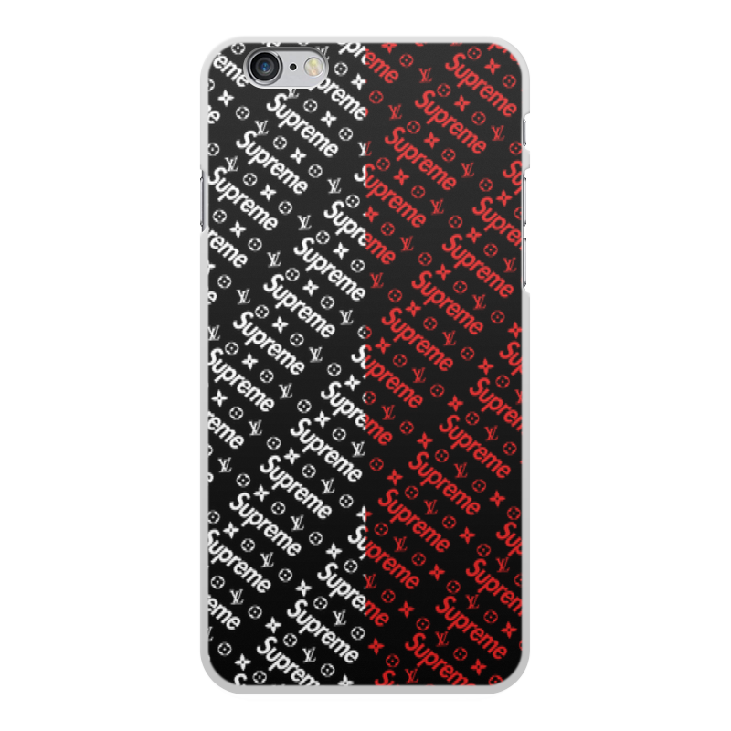 Чехол для iPhone 6 Plus, объёмная печать Printio Supreme цена
