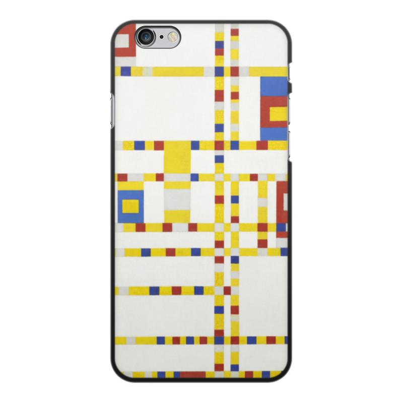 Чехол для iPhone 6 Plus, объёмная печать Printio Бродвей буги-вуги (питер мондриан) чехол для samsung galaxy s5 printio бродвей буги вуги питер мондриан
