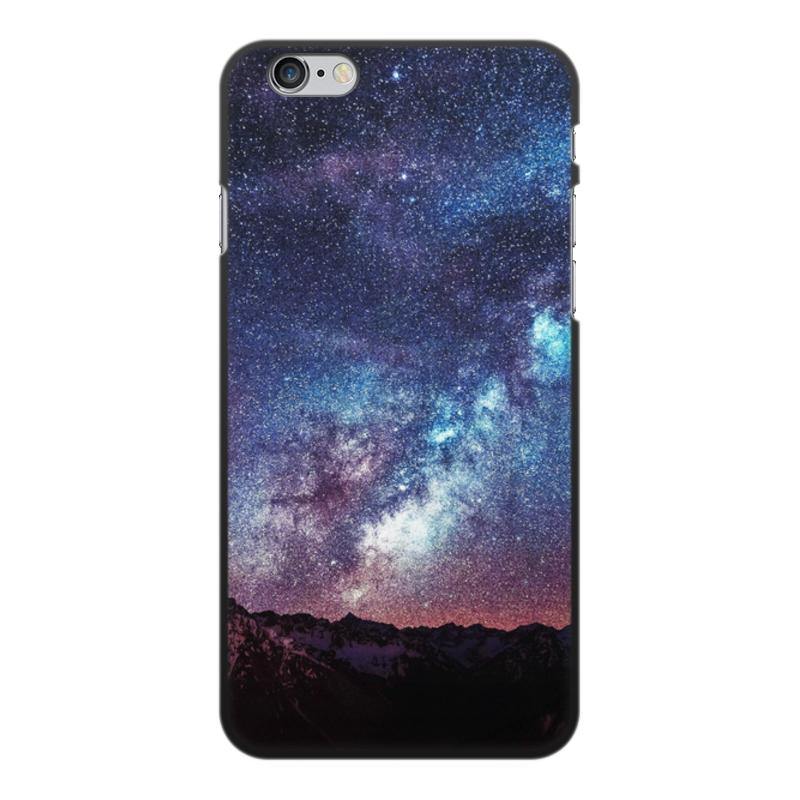 Чехол для iPhone 6 Plus, объёмная печать Printio Космос цена