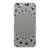 """Чехол для iPhone 6 Plus, объёмная печать """"Черно-белый спиральный калейдоскоп"""" - черно-белый, оригинальный, геометрический, ажурный, фантазийный"""
