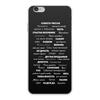 """Чехол для iPhone 6 Plus, объёмная печать """"Манта для настоящих мужчин (черный вариант)"""" - праздник, мужчина, подарок, пожелания, мантра"""