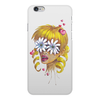 """Чехол для iPhone 6 Plus, объёмная печать """"Без ума от цветов"""" - любовь, девушка, цветы, сердца, блондинка"""