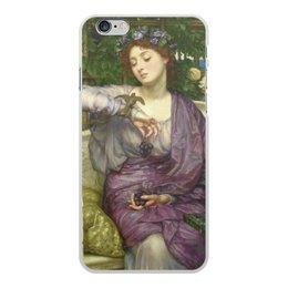 """Чехол для iPhone 6 Plus, объёмная печать """"Лесбия и её воробушек (Эдвард Пойнтер)"""" - картина, живопись, мифология, пойнтер"""