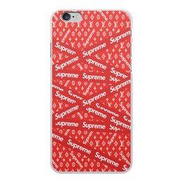 "Чехол для iPhone 6 Plus, объёмная печать ""Supreme"" - надписи, бренд, brand, supreme, суприм"