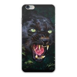 """Чехол для iPhone 6 Plus, объёмная печать """"ПАНТЕРА. ФЭНТЕЗИ"""" - стиль, глаза, красота, клыки, ярость"""