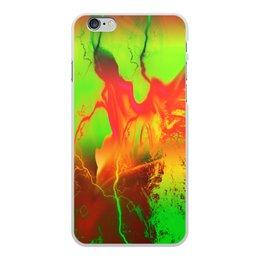 "Чехол для iPhone 6 Plus, объёмная печать ""Пятна краски"" - узор, космос, пятна, краски, абстракция"