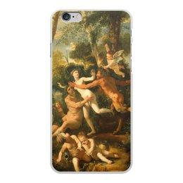 """Чехол для iPhone 6 Plus, объёмная печать """"Пан и Сиринга (Никола Пуссен)"""" - картина, живопись, мифология, пуссен, классицизм"""